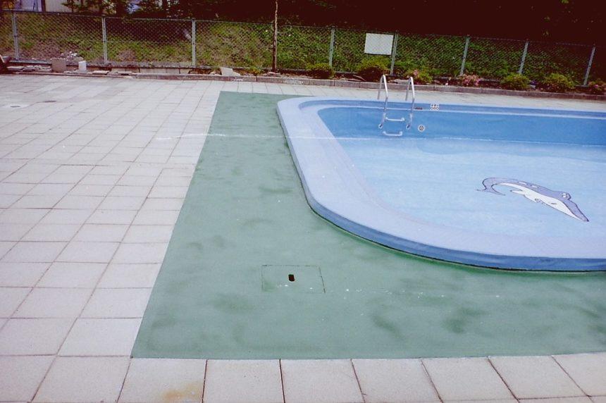 大プール・小プールサイド下地調整及び塗装改修工事
