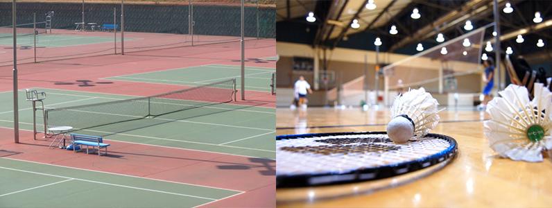 テニスコートのサーフェスなどにもコートライン引きを行っています。