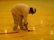 各種スポーツコートライン引き(体育館)