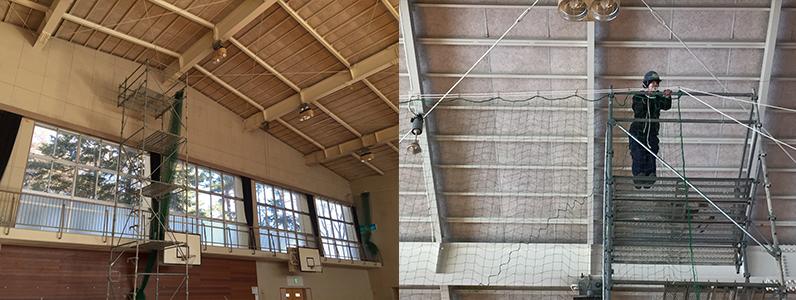 防球ネット改修工事