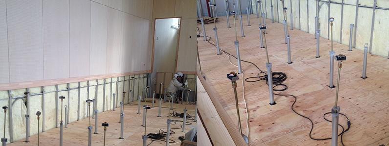 体育館木床(スポーツフロア)新設工事
