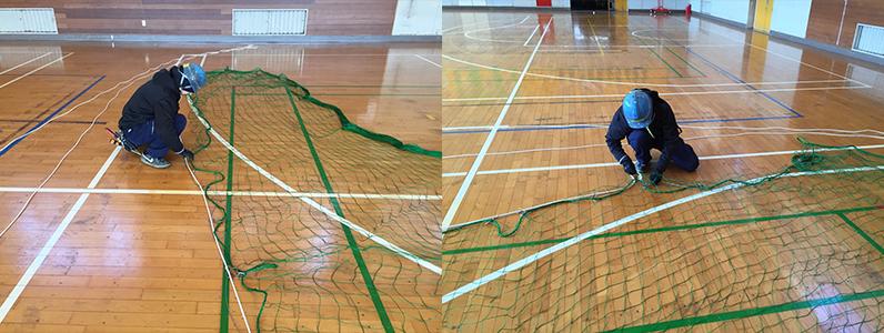 防球ネット修繕工事2