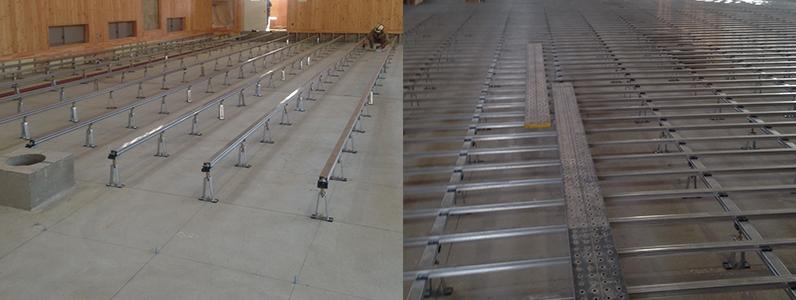 体育館木床(スポーツフロア)新設工事2