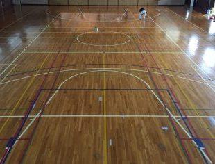 神奈川県内体育館の床改修工事