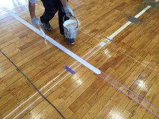 新潟県中学校体育館サイドライン変更