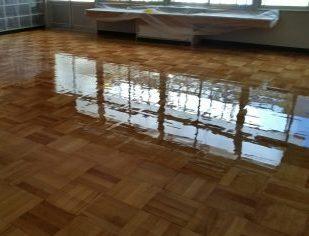 小学校研磨塗装工事施工後
