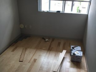 マンション床改修工事絨毯施工後