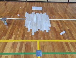 体育館の床改修工事2