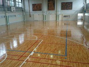 中学校体育館仕上げ塗装