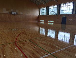 長野県内体育館床改修施工後