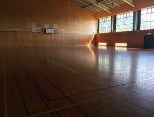長野県内体育館床改修施工前