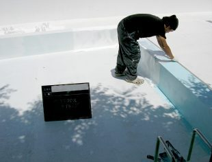 プールコートFREライニング工法施工事例