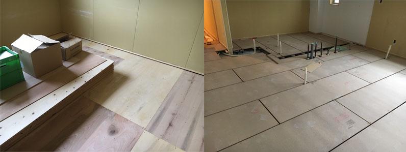 置床と合板