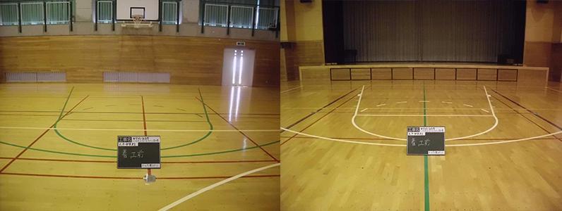 バスケットボールコートライン(旧ルールのデザイン)
