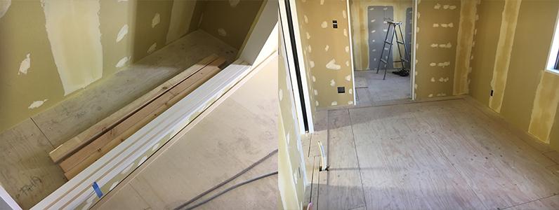 床も壁も仕上がってきましたね!!下地が出来上がったら、いよいよ仕上げに入ります。