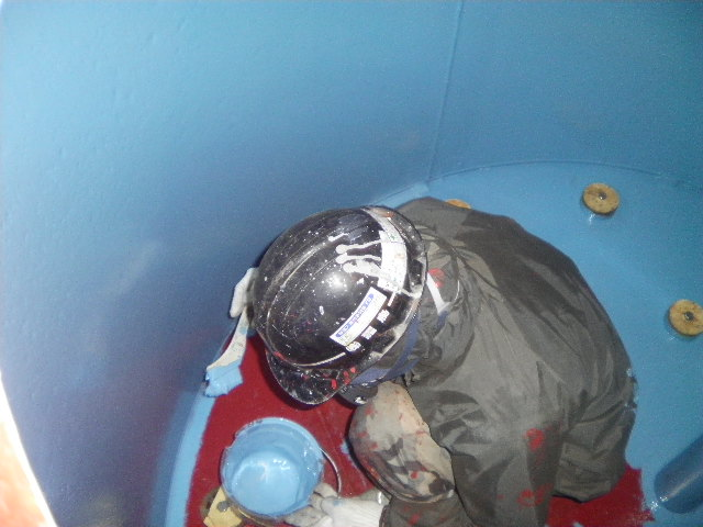 循環ろ過機「砂式」中塗り塗装