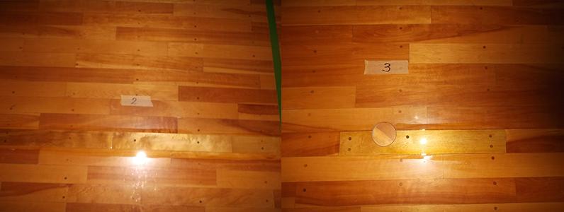 体育館床メンテナンス・床金具廻りフローリング張り替え3