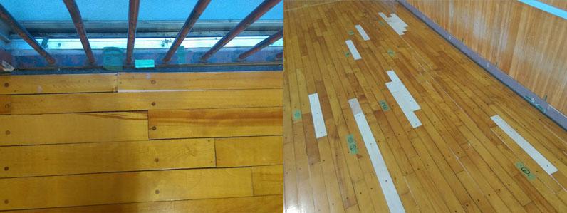 床隙間部分補修