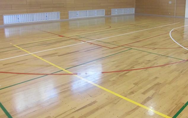 コートラインプロ、松戸第5中学校着色仕上げ写真