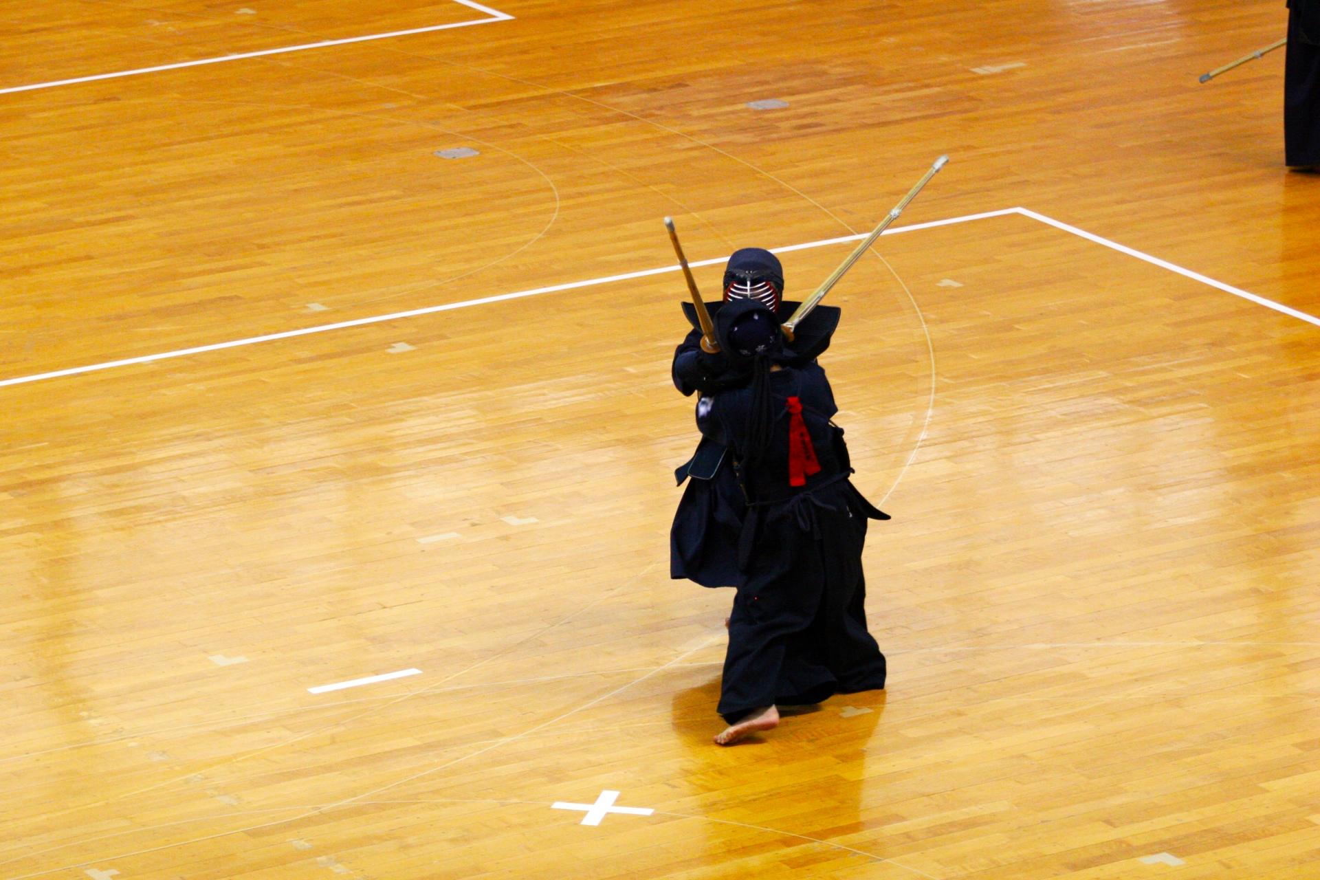 柔剣道場フローリングメンテナンス