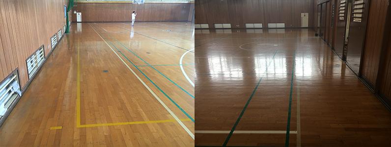体育館既存床の状態