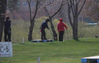 パークゴルフのようす