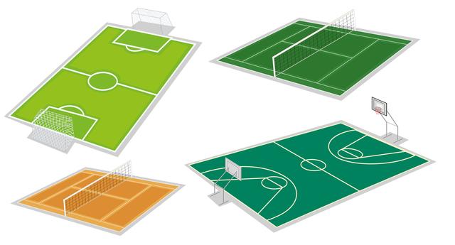スポーツコートラインの種類と施工