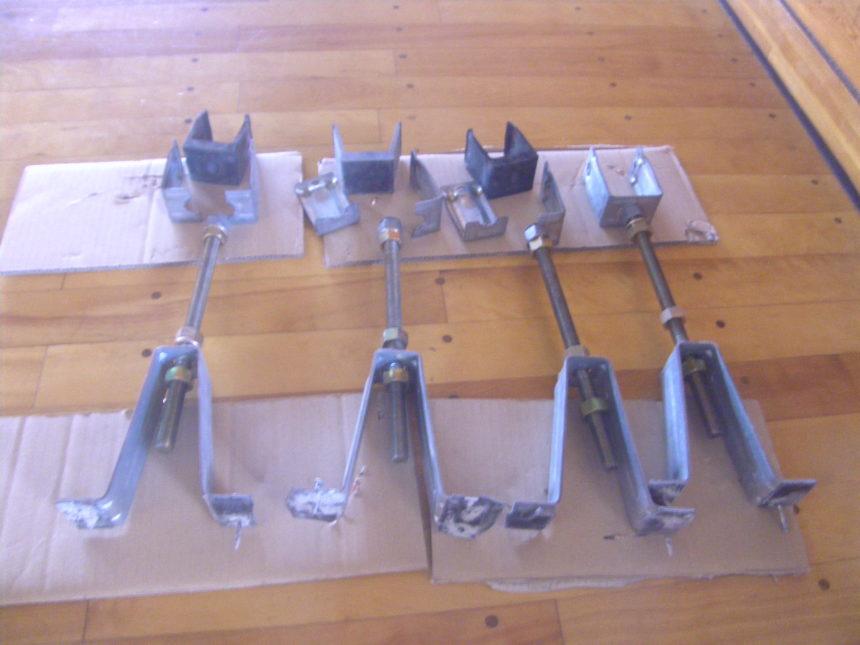 鋼製床組の工程