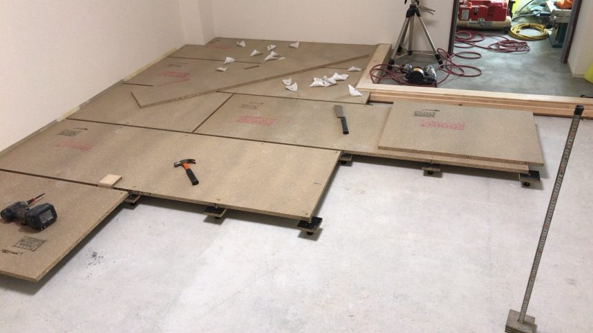 置床・乾式二重床の施工事例【某社員寮】