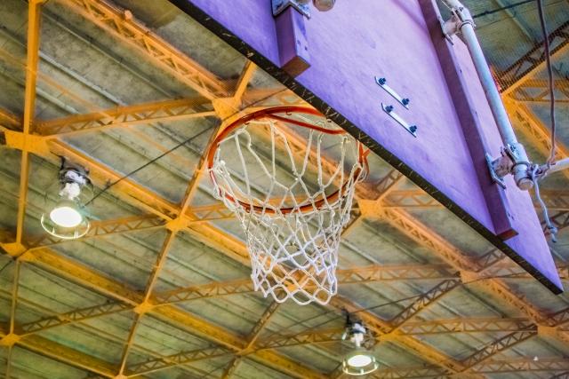 バスケットボール板改修
