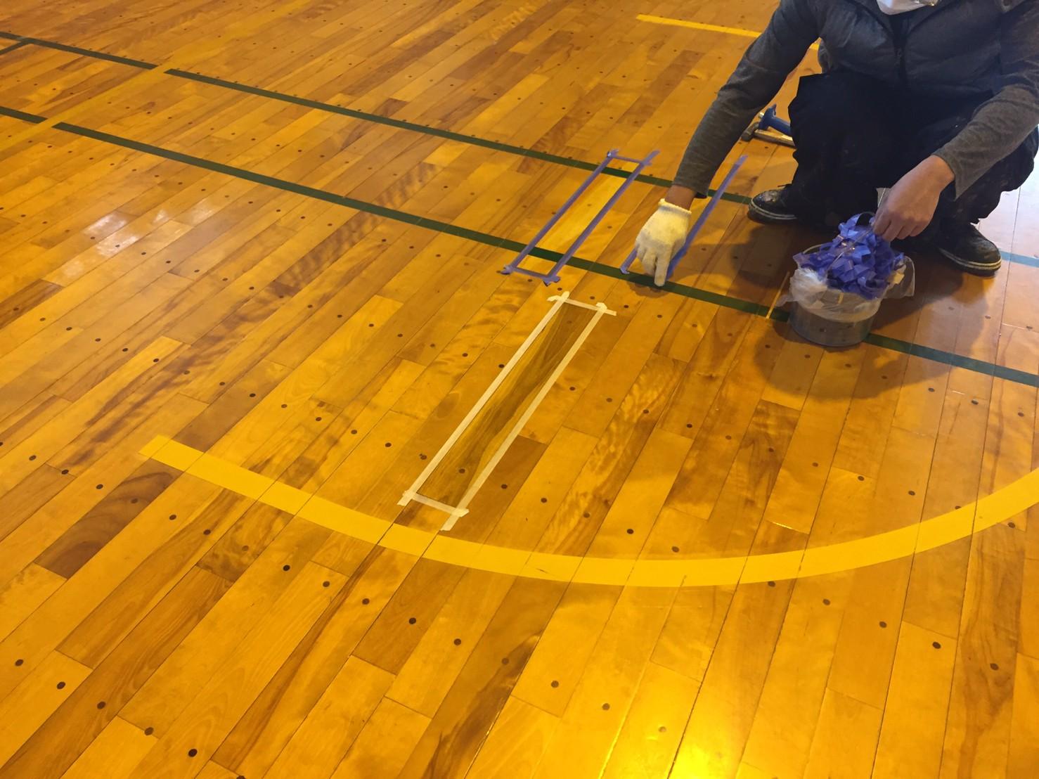 神奈川県運動公園体育館床修繕